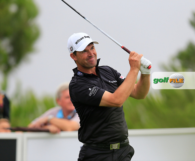 Padraig HARRINGTON (IRL) tees off the 15th tee during Saturday's Round 3 of the Portugal Masters 2015 held at the Oceanico Victoria Golf Course, Vilamoura Algarve, Portugal. 15-18th October 2015.<br /> Picture: Eoin Clarke | Golffile<br /> <br /> <br /> <br /> All photos usage must carry mandatory copyright credit (&copy; Golffile | Eoin Clarke)