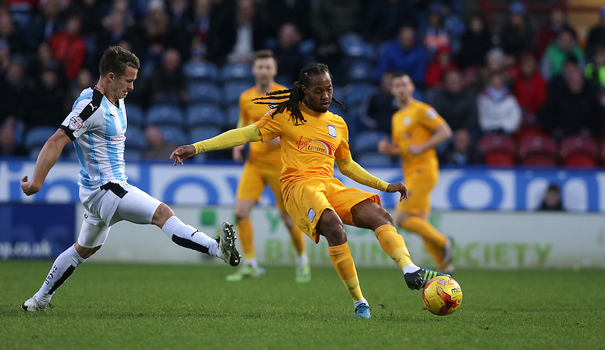 Preston North End's Daniel Johnson<br /> <br /> Photographer Stephen White/CameraSport<br /> <br /> Football - The Football League Sky Bet Championship - Huddersfield Town v Preston North End - Saturday 26th December 2015 - The John Smith's Stadium - Huddersfield<br /> <br /> &copy; CameraSport - 43 Linden Ave. Countesthorpe. Leicester. England. LE8 5PG - Tel: +44 (0) 116 277 4147 - admin@camerasport.com - www.camerasport.com