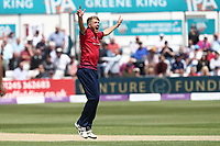 Jamie Porter of Essex claims the wicket of Tom Kohler-Cadmore during Essex Eagles vs Yorkshire Vikings, Royal London One-Day Cup Play-Off Cricket at The Cloudfm County Ground on 14th June 2018