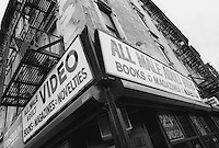 New York, NY Circa 1990 - Adult Book store on third Avenue and 14th Street.