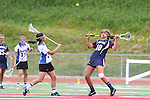 Redondo Beach, CA 05/14/11 - unidentified Cate player and Alena Riggs (St Margaret #10) in action during the 2011 Division 2 US Lacrosse / CIF Southern Section Championship game between Cate School and St Margaret.