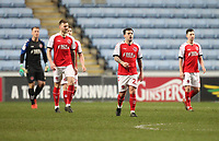 Fleetwood Town's players look dejected<br /> <br /> Photographer Mick Walker/CameraSport<br /> <br /> The EFL Sky Bet League One - Coventry City v Fleetwood Town - Tuesday 12th March 2019 - Ricoh Arena - Coventry<br /> <br /> World Copyright &copy; 2019 CameraSport. All rights reserved. 43 Linden Ave. Countesthorpe. Leicester. England. LE8 5PG - Tel: +44 (0) 116 277 4147 - admin@camerasport.com - www.camerasport.com