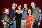 Linda Lavin, Director Steve Bakunas, Actress Anna Stromberg, Actor Mike O'Neil, Actress Michelle Gagliano and Playwright Owen Dunne at The Red Barn Studio Theatre Off-Broadway production of 'Positions' at the Roy Arias Studio Theatre on October 10, 2012 in New York City.