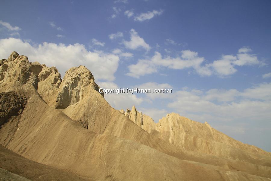 Israel, Dead Sea valley, Mount Sodom by the Dead Sea