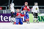 Solna 2014-03-15 Bandy SM-final Damer Kareby IS - AIK  :  <br /> Karebys Linnea Gunnarsson jublar efter att ha gjort 1-0 i den f&ouml;rsta halvleken<br /> (Foto: Kenta J&ouml;nsson) Nyckelord:  SM SM-final final dam damer Kareby AIK jubel gl&auml;dje lycka glad happy