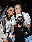 Deidre Walsh, Leanne Gaynor and Aoibhinn Murray pictured at the Halloween party for members of Ardee Brass Band in the Bohemian centre. Photo:Colin Bell/pressphotos.ie