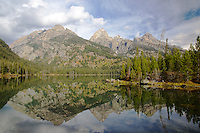 Taggert Lake, Grand Tetons, mountain reflection, Grand Teton National Park<br />