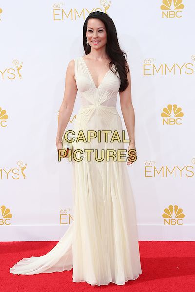 LOS ANGELES, CA - AUGUST 25: Lucy Liu at The 66th Primetime Emmy Awards held at Nokia Theater L.A. LIVE in Los Angeles, CA on August 25, 2014.  <br /> CAP/MPI/mpi99<br /> &copy;mpi99/MediaPunch/Capital Pictures
