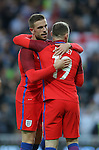 Wayne Rooney of England celebrates his goal with Jordan Henderson of England during the International Friendly match at the Stadium of Light, Sunderland. Photo credit should read: Simon Bellis/Sportimage
