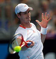 ANDY MURRAY (GBR) against RYAN HARRISON (USA) in the first round of the Men's Singles. Andy Murray beat Ryan Harrison 4-6 6-3 6-4 6-2 ..17/01/2012, 17th January 2012, 17.01.2012..The Australian Open, Melbourne Park, Melbourne,Victoria, Australia.@AMN IMAGES, Frey, Advantage Media Network, 30, Cleveland Street, London, W1T 4JD .Tel - +44 208 947 0100..email - mfrey@advantagemedianet.com..www.amnimages.photoshelter.com.