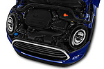 Car stock 2018 Mini Mini Chilli 2 Door Convertible engine high angle detail view