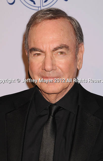 BEVERLY HILLS, CA - OCTOBER 20: Neil Diamond  arrives at the 26th Anniversary Carousel Of Hope Ball presented by Mercedes-Benz at The Beverly Hilton Hotel on October 20, 2012 in Beverly Hills, California.