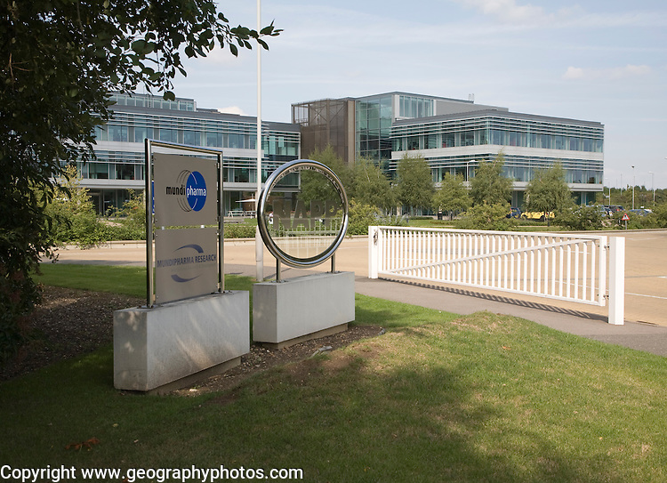Mundipharma research modern high-tech businesses located in Cambridge Science park, Cambridge, England founded by Trinity College in 1970, is the oldest science park in the United Kingdom.