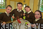 Dylan Leen Fitzgerald, Garry O'Connor, Lauren O'Sullivan and Emma Quirke, Lisivigeen National School, pictured enjoying the samba drum as part of Arts Week in the School on Monday...