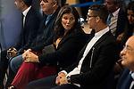 Cristiano Ronaldo and his mother Maria Dolores dos Santos Aveiro during the renews of Cristiano Ronaldo's contract with Real Madrid until 2021 at Santiago Bernabeu Stadium in Madrid. November , 2016. (ALTERPHOTOS/Borja B.Hojas)