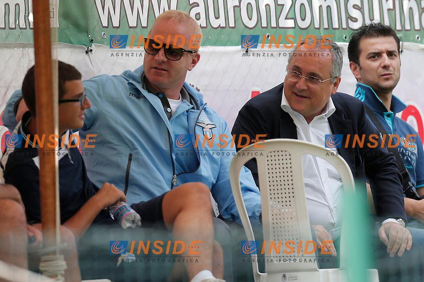 Igli Tare Lazio, Claudio Lotito Lazio,<br /> Auronzo di Cadore (Belluno) 21/7/2013 <br /> Football Calcio 2013/2014 Serie A <br /> SS Lazio Vs Top 11 Cadore <br /> Amichevole Friendly Match <br /> Ritiro precampionato SS Lazio <br /> Foto Marco Bertorello Insidefoto