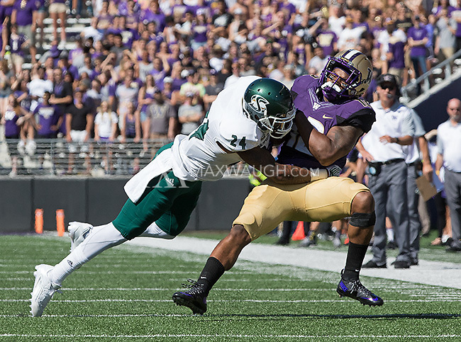 Dwayne Washington takes a big hit from Sac. State's Anthony... Payne.