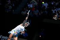29th January 2020; Melbourne Park, Melbourne, Victoria, Australia; Australian Open Tennis, Day 10; Simona Halep of Romania serves during her match against Anett Kontaveit of Estonia
