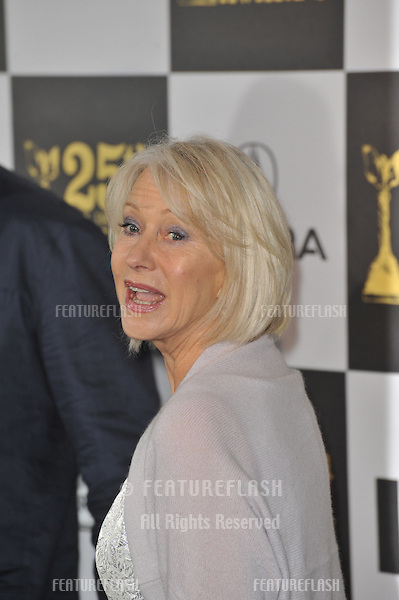 Helen Mirren at the 25th Anniversary Film Independent Spirit Awards at the L.A. Live Event Deck in downtown Los Angeles..March 5, 2010  Los Angeles, CA.Picture: Paul Smith / Featureflash