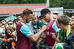 29.07.2017, Heinz-Dettmer-Stadion, Lohne, GER, FSP, SV Werder Bremen vs West Ham United<br /> <br /> im Bild<br /> Marko Arnautovic (West Ham #18) gibt Autogramme, unterschreibt ein West Ham Trikot / Marko Arnautovic (West Ham #18) signing autographs, signing a West Ham jersey, <br /> <br /> Foto &copy; nordphoto / Ewert