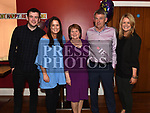 Francie McEvoy pictured with his wife Mary, son Shane and daughters Deirdre and Laura at his retirement party in Brú. Photo:Colin Bell/pressphotos.ie