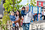Theresa & P.J. O' Halloran from Duagh with their children John Patrick & Elizabeth attend the Gig Rig at  Fleadh by the Feale last Sunday evening in the Square.