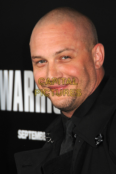 "Tom Hardy.""Warrior"" World Premiere held at Arclight Cinemas, Hollywood, California, USA..September 6th, 2011.headshot portrait stubble facial hair bald black  .CAP/ADM/BP.©Byron Purvis/AdMedia/Capital Pictures."