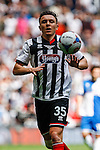 Gregor Robertson of Grimsby Town during the 2015 Vanarama Conference Promotion Final match between Grimsby Town and Bristol Rovers at Wembley Stadium, London<br /> Picture by David Horn/eXtreme aperture photography +44 7545 970036<br /> 17/05/2015