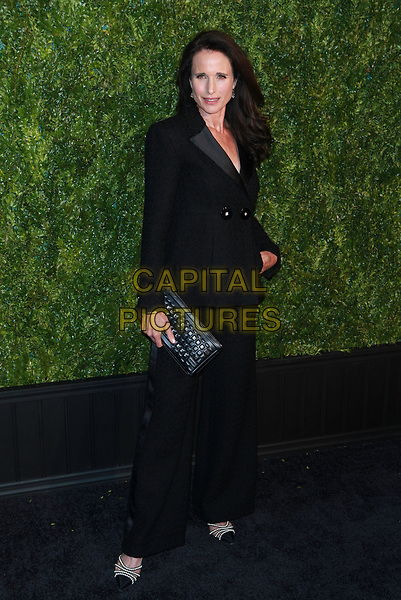 NEW YORK, NY - APRIL 24: Andie MacDowell at CHANEL Tribeca Film Festival Artists Dinner at Balthazar Rastaurant on April 24, 2017 in New York City. <br /> CAP/MPI99<br /> &copy;MPI99/Capital Pictures