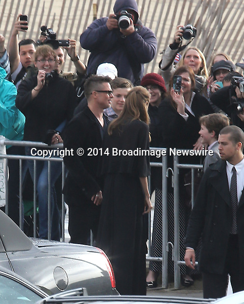 Pictured: Brad Pitt and Angelina Jolie<br /> Mandatory Credit &copy; Fernando Allende/Adriano Camolese/Broadimage<br /> Brad Pitt and Angelina Jolie signing authographs at the 2014 Independent Spirit Awards<br /> <br /> 3/1/14, Santa Monica, California, United States of America<br /> Reference: 030114_FALA_BDG_049<br /> <br /> Broadimage Newswire<br /> Los Angeles 1+  (310) 301-1027<br /> New York      1+  (646) 827-9134<br /> sales@broadimage.com<br /> http://www.broadimage.com