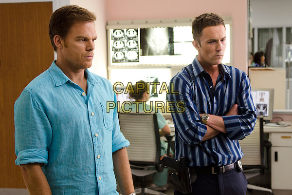 Michael C. Hall &amp; Desmond Harrington <br /> in Dexter (Season 8)<br /> *Filmstill - Editorial Use Only*<br /> CAP/FB<br /> Image supplied by Capital Pictures