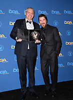 LOS ANGELES, CA. February 02, 2019: Adam McKay & Christian Bale at the 71st Annual Directors Guild of America Awards at the Ray Dolby Ballroom.<br /> Picture: Paul Smith/Featureflash