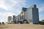 Grain elevators in the great plains in North Dakota