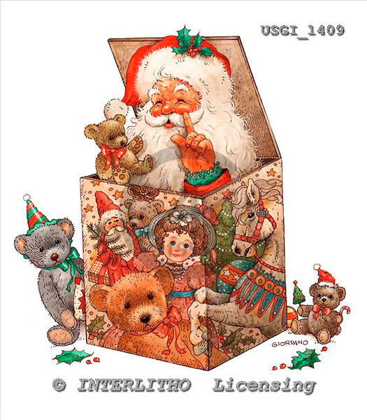 GIORDANO, CHRISTMAS SANTA, SNOWMAN, WEIHNACHTSMÄNNER, SCHNEEMÄNNER, PAPÁ NOEL, MUÑECOS DE NIEVE, paintings+++++,USGI1409,#X# stickers
