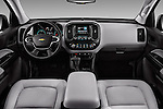 Stock photo of straight dashboard view of 2016 Chevrolet Colorado 2WD wt Extended Cab 3 Door Pick-up Dashboard