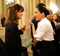 07 February 2019 - Meghan Markle Duchess of Sussex meets guests during the annual Endeavour Fund Awards at Draper's Hall in London. The Royal Foundation's Endeavour Fund Awards celebrate the achievements of wounded, injured and sick servicemen and women who have taken part in sporting and adventure challenges over the last year. Photo Credit: ALPR/AdMedia