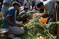 Beans on sale in the Friday market at Mapusa.