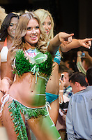 Miami Dolphins Cheerleader walks runway at Miami Dolphins Cheerleaders Swimsuit 2014 Calendar Unveiling and Fashion Show at Fontainebleau's LIV nightclub, Miami Beach, FL, September 5, 2013