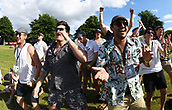 9th December 2017, Seddon Park, Hamilton, New Zealand; International Test Cricket, 2nd Test, Day 1, New Zealand versus West Indies;  Fans and supporters on the hill