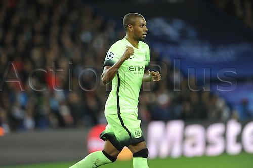 06.04.2016. Paris, France. UEFA CHampions League, quarter-final. Paris St Germain versus Manchester City.  Fernandinho (mc) celebrates his goal