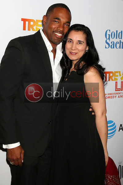 Jason George, Vandana Khanna<br /> at the TrevorLIVE Los Angeles 2016, Beverly Hilton Hotel, Beverly Hills, CA 12-04-16<br /> David Edwards/DailyCeleb.com 818-249-4998