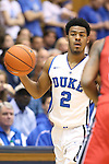 02 November 2013: Duke's Quinn Cook. The Duke University Blue Devils played the Drury University Panthers in a men's college basketball exhibition game at Cameron Indoor Stadium in Durham, North Carolina. Duke won the game 81-65.