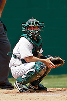 April 23, 2011:    Jacksonville University Dolphins catcher Alex Swenson (14) during Atlantic Sun Conference action between Stetson Hatters and Jacksonville University Dolphins at John Sessions Stadium in Jacksonville, Florida.  Jacksonville defeated Stetson 10-4...........