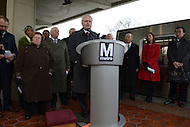 Greenbelt, MD - January 6, 2014:  Richard Sarles, Metro General Manager and CEO, speaks during a press conference with other officials at the Greenbelt Metro station announcing the arrival of new 7000-series rail cars. (Photo by Don Baxter/Media Images International)