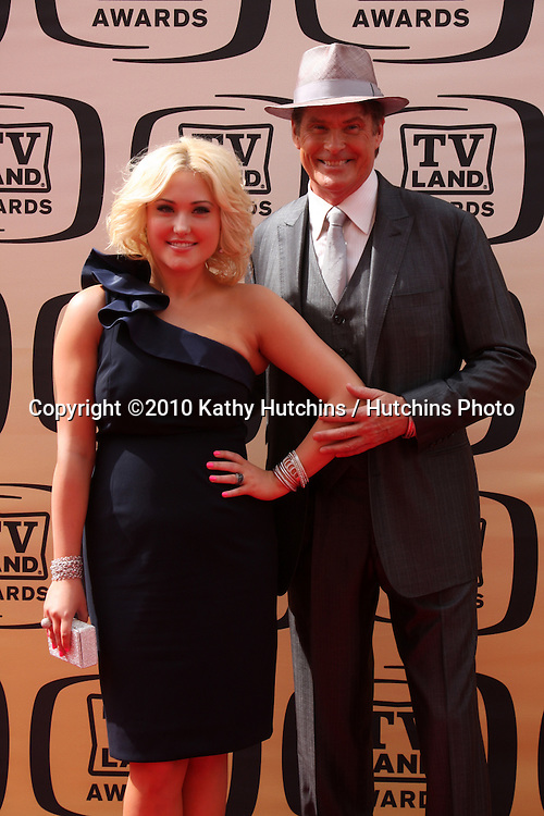 Hayley & David Hasselhoff (his daughter).arrives at the 2010 TV Land Awards.Sony Studios.Culver City, CA.April 17, 2010.©2010 Kathy Hutchins / Hutchins Photo...