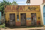 Altamira, Brazil. Maca's Motos, a dilapidated closed down motorcycle repair shop.
