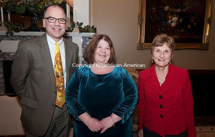 WATERBURY,  CT,  CT-032515JS10- Exchange Club members Lee Schlesinger; Dana Guiliano and Lucille Parsons at the 10th annual Dr. Lawrence J. Shea Awards Banquet held at La Bella Vista at the Pontelandolfo Club in Waterbury. <br /> Jim Shannon Republican-American
