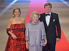 "QUEEN BEATRIX, CROWN PRINCE WILLEM-ALEXANDER AND CROWN PRINCESS MAXIMA.attend the gala farewell dinner for Queen Beatrix.at the Rijksmuseum in Amsterdam, The Netherlands_April 29, 2013..Crown Prince Willem-Alexander and Crown Princess Maxima will be proclaimed King and Queen  of The Netherlands on the abdication of Queen Beatrix on 30th April 2013..Mandatory Credit Photos: ©Utrecht/NEWSPIX INTERNATIONAL..**ALL FEES PAYABLE TO: ""NEWSPIX INTERNATIONAL""**..PHOTO CREDIT MANDATORY!!: NEWSPIX INTERNATIONAL(Failure to credit will incur a surcharge of 100% of reproduction fees)..IMMEDIATE CONFIRMATION OF USAGE REQUIRED:.Newspix International, 31 Chinnery Hill, Bishop's Stortford, ENGLAND CM23 3PS.Tel:+441279 324672  ; Fax: +441279656877.Mobile:  0777568 1153.e-mail: info@newspixinternational.co.uk"