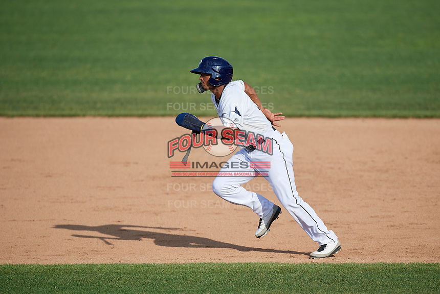 Princeton Rays shortstop Wander Franco (6) runs the bases during the first game of a doubleheader against the Johnson City Cardinals on August 17, 2018 at Hunnicutt Field in Princeton, Virginia.  Johnson City defeated Princeton 6-4.  (Mike Janes/Four Seam Images)