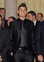 Cristiano Ronaldo attend the National Sports Awards ceremony at El Pardo Palace. December 05, 2012. (ALTERPHOTOS/Caro Marin) NortePhoto